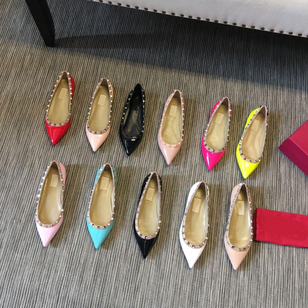 Top Designers Dress Shoe Designer Mocasines Ladies Casual Zapatos Cuero genuino Shadess Party Party Shoed con caja de gran tamaño 35-43