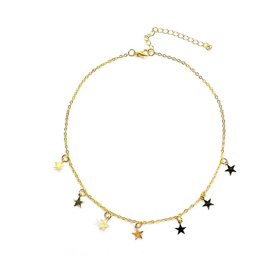 Fashion Long Collanes Estate New Boemia Style Gold Silver Color Star Collana Donne Boho Pendants Choker Jewelry