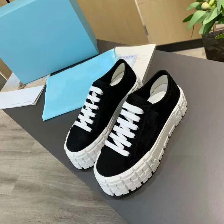 2021 nova roda cassetes sapatos casuais lona superior preto todos os jogos soled espessas sneakers homens mulheres plana lace up tênis de fundo de borracha