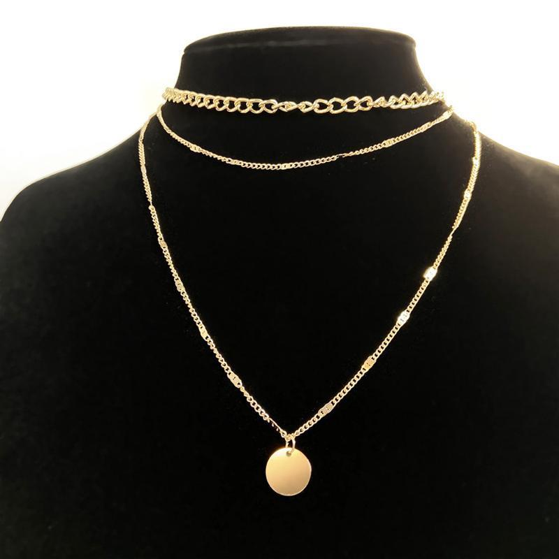 Collane pendenti Collana vintage sul collo Catena d'oro Gioielli da donna Accessori a strati per ragazze Abbigliamento Regali estetici Moda