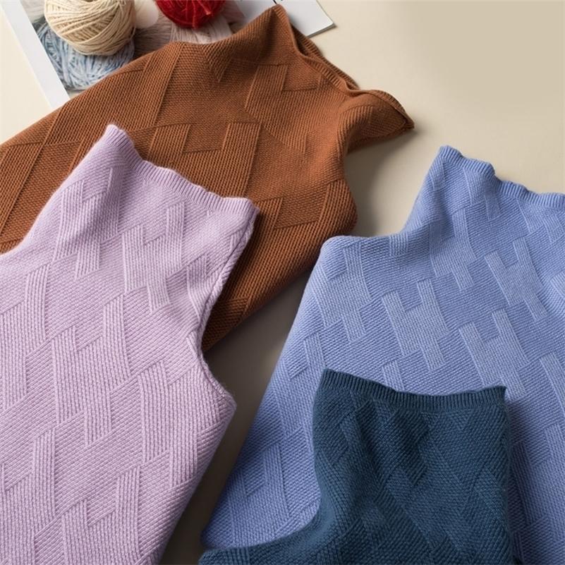 e inverno New Cashmere Signore Sweater Maglione Donna Sweater Allentato e Versatile Signore Maglione Pullover Turtleneck LJ201017