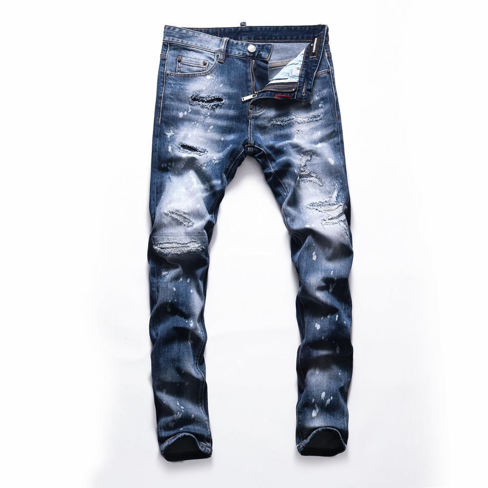 2021 Neue Marke von modischen europäischen und amerikanischen Männer Lässige Jeans, hochwertiges Waschen, reines Handschleifen, Qualitätsoptimierung LTD2761