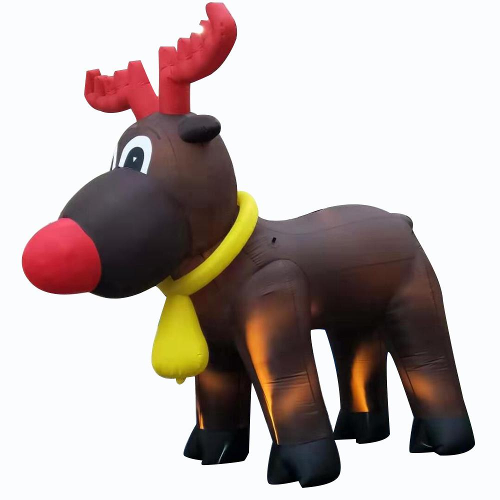تخصيص عيد الميلاد الديكور بالون نفخ ثلج سانتا الغزلان بطة صفراء مع الأحمر قبعة الشتاء شخصية للمهرجان