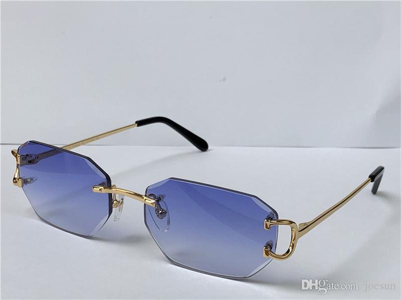 Vendendo óculos de sol vintage Irregular diamante sem moldura de diamante lente vidros retrô moda avant-garde design uv400 cor clara Óculos decorativos 0103