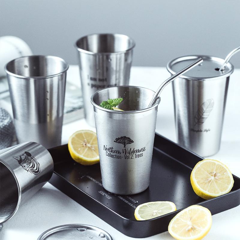 Mugs 304 Stainless Steel Spray Paint Beer Cup Coffee Mug Kitchen Drinkware Juice Water Household Office Use Gargle