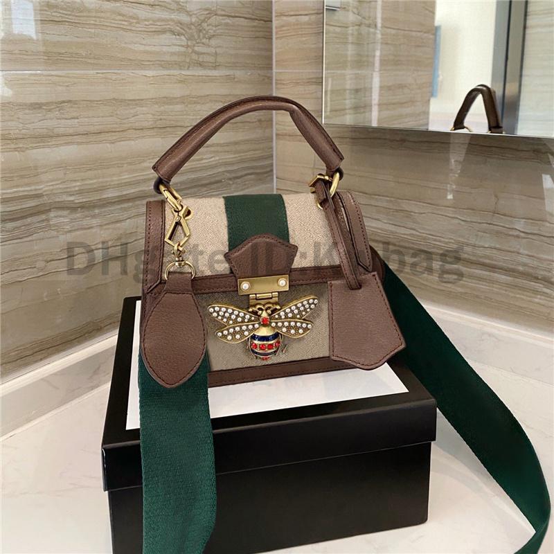 2021 Little Bee Borse a tracolla Borse Lusurys Designer Designer Borsa Top Quality Vintage Messenger Bag Cross Body Portafoglio Flap Pocket Fashion Frizione Borsa Borse Box Hobos