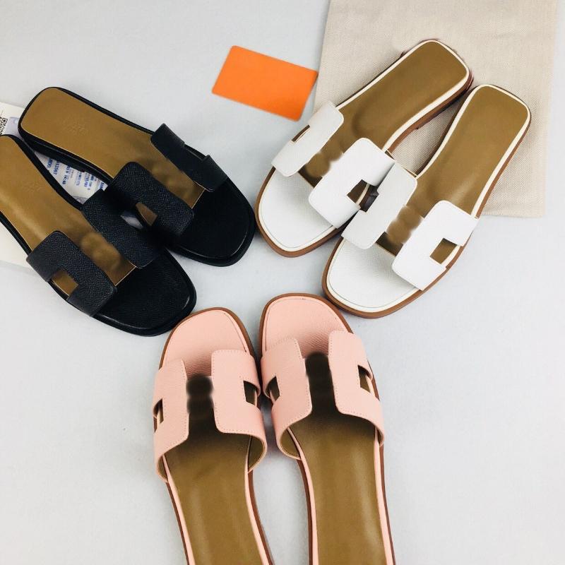Hübsche Frauen Paris Hausschuhe Strand Rutsche Klassische Flache Sandalen Modedesigns Orange Raubtiere Schuhe