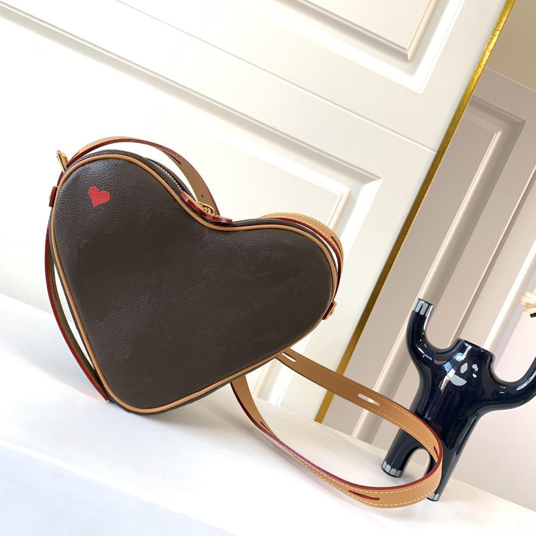 Kalp şeklinde tek omuz çantaları moda sevimli küçük yaz kadın zincir çanta lüks tasarımcılar çapraz vücut küçük 2021 yeni tdbtc lvlkt