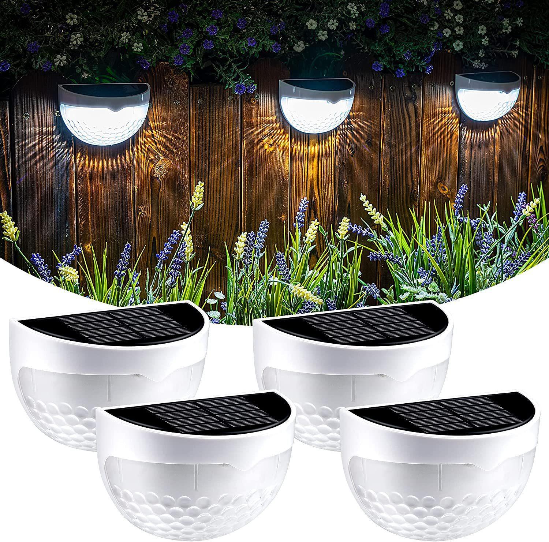 6 LED Solar Lights Outdoor Lighting Garden Decoration Deck Wall Lamp Stairs Waterproof Fence Step Landscape Light