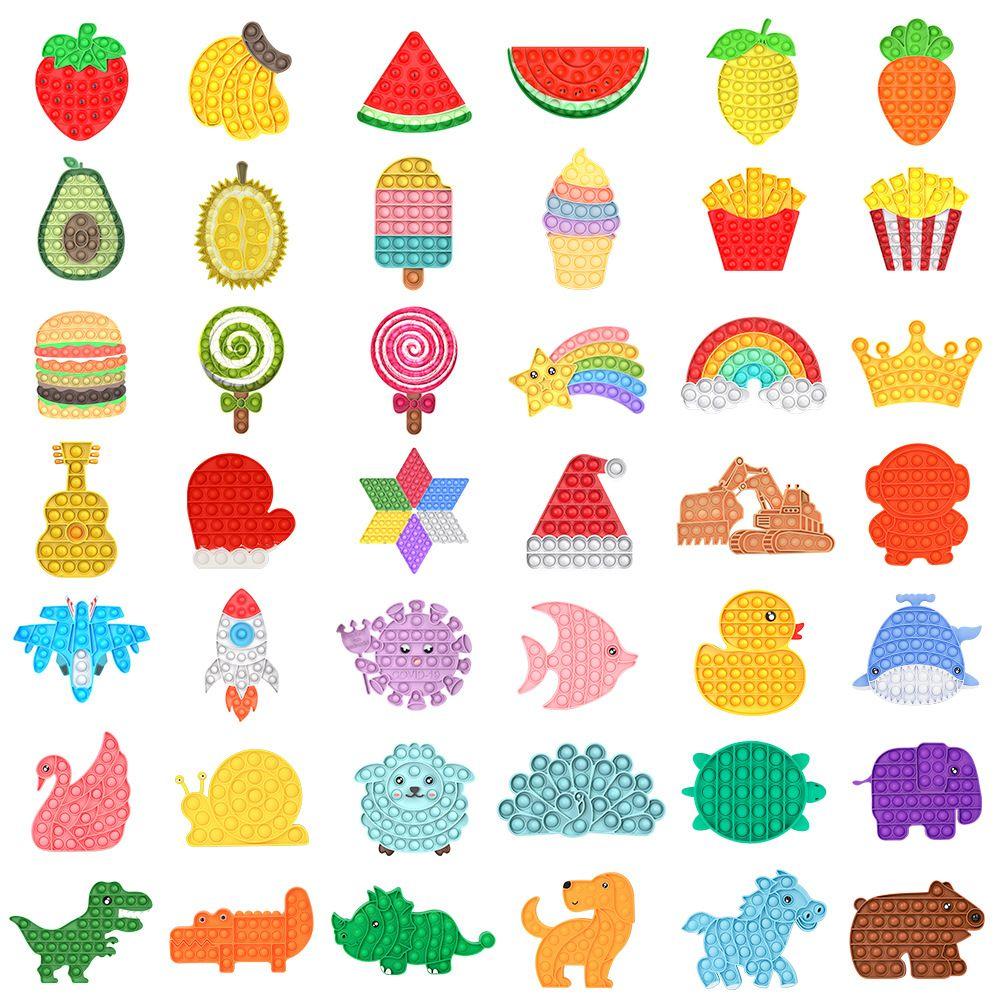 İtme kabarcık pop fidget oyuncaklar duyusal yüzük bilezikler bulmaca basın parmak kabarcıkları stres bilezik bileklik zzf