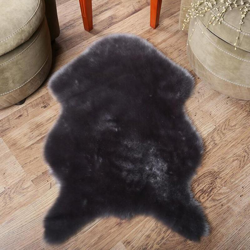 Teppiche weiche faux pelz wolle teppich für wohnzimmer künstliche sofa bett teppich plüsch schlafzimmer abdeckung matratze türfenster bay matte