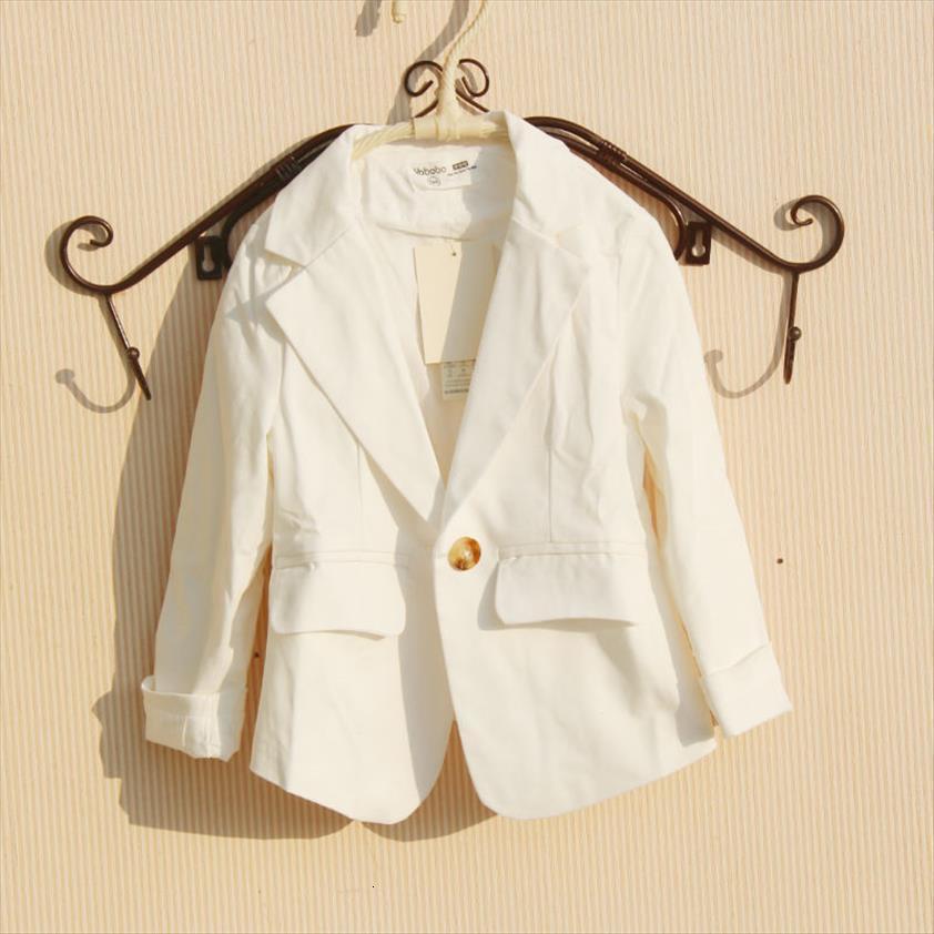 Spring Autumn Kids Jacket For Girls Clothes Cotton Casual Suit Outerwear Children Coat Tops Blazer 2 Colors