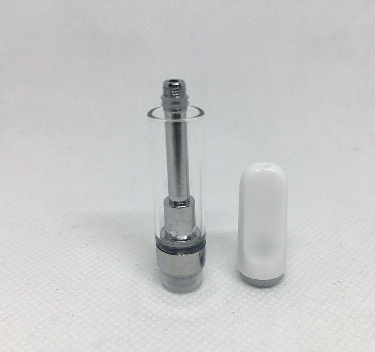 TH205 Vape Cartridges Empty Vape Cartridge Ceramic Coil 510 Thread Thick Oil Tanks Glass Drip Tip 0.5 1.0ml Atomizers shipping fast DHL