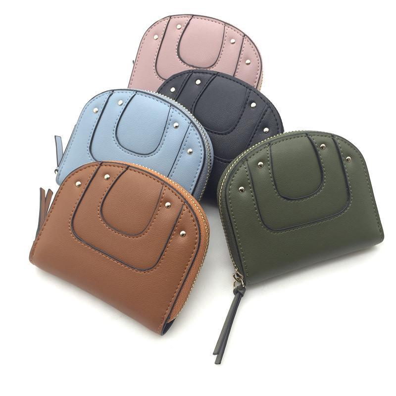 Nuova borsa da tasca con cerniera da donna coreana mini semplice borsa da portafoglio in pelle semplice