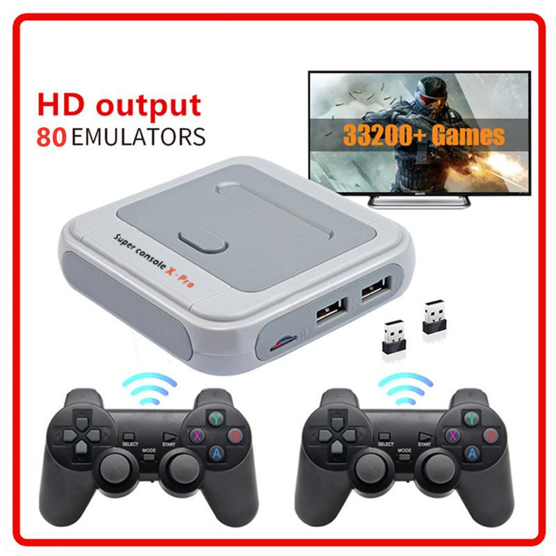 Super console x pro HD 4K HDTV Output 64G/128G Mini Portable Console Arcade Kids Retro Game Emulator Console can store 40000 Games