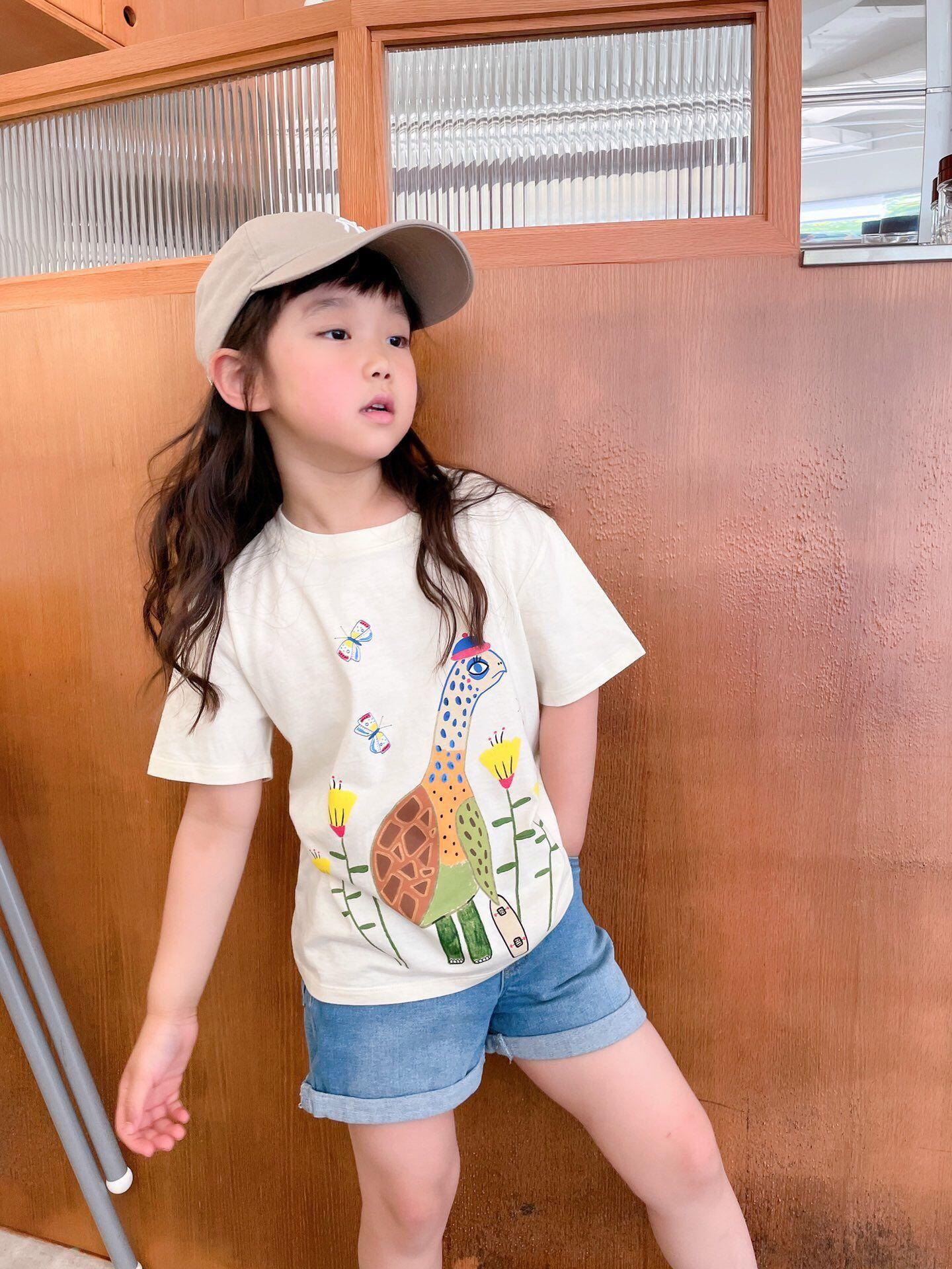 2021 free shipping Children's T-Shirt Children for Boys Girls Kids Kid's Shirts Child Baby Toddler Cotton Cartoon Tee Tops Clothing Sho