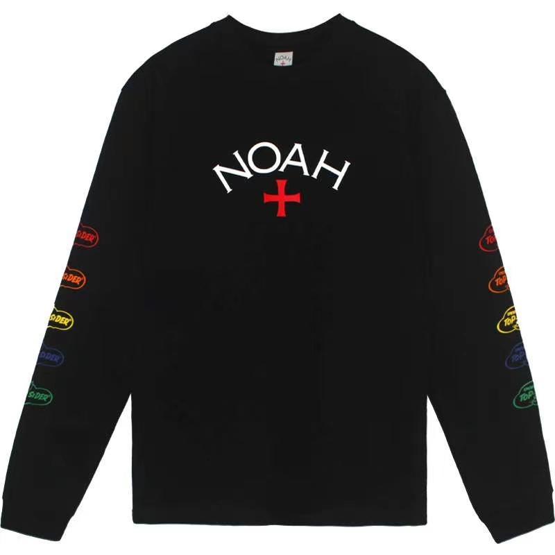 1: 1 En İyi Kalite Streetwear T-Shirt Uzun Kollu Noah Çekirdek T-shirt Erkek Gömlek 2QVN