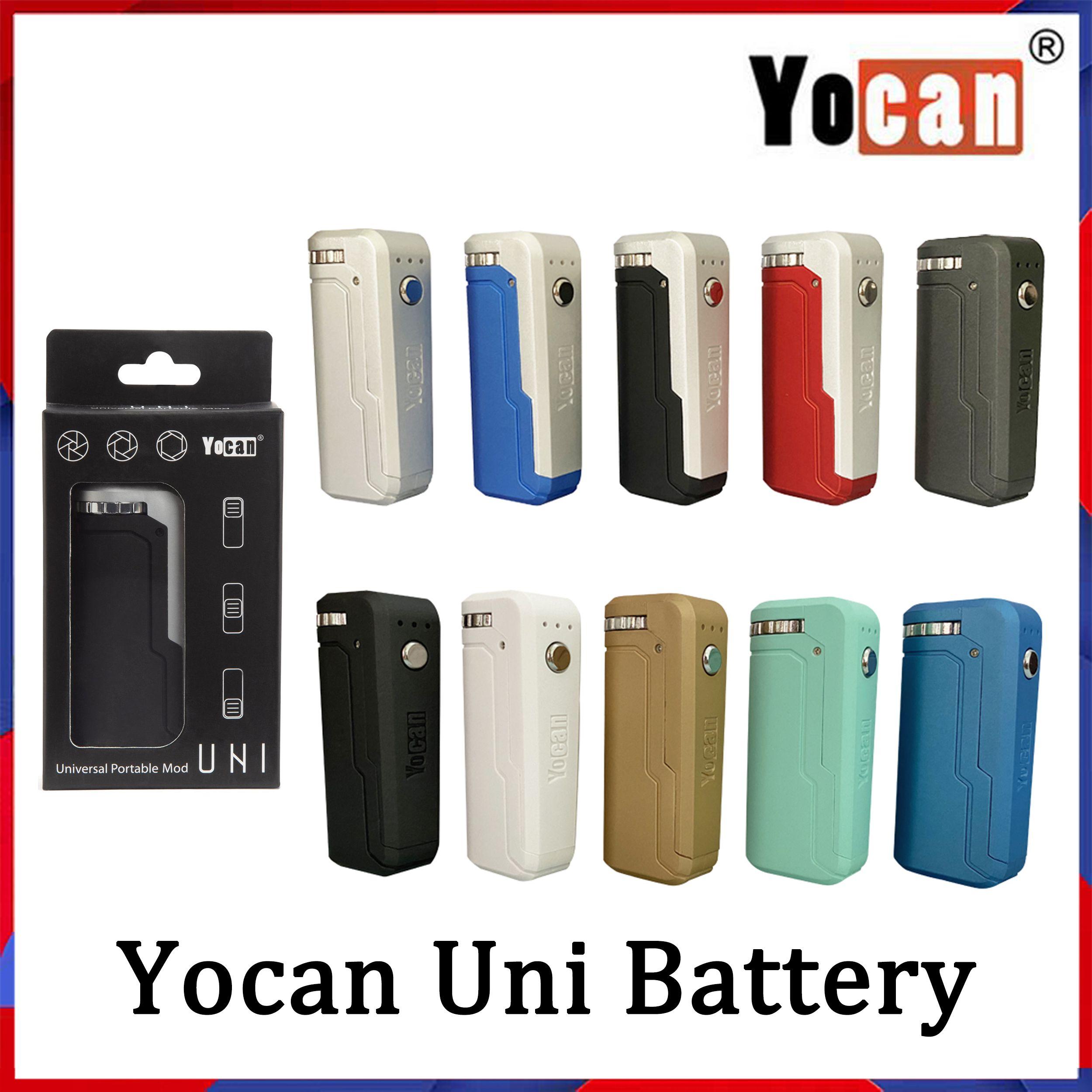Yocan Uni Box Mod Kitleri 650 mAh Preheat VV Değişken Gerilim Pil Ile Manyetik 510 Adaptörü Kalın Yağ Kartuşu VS VMOD TH420