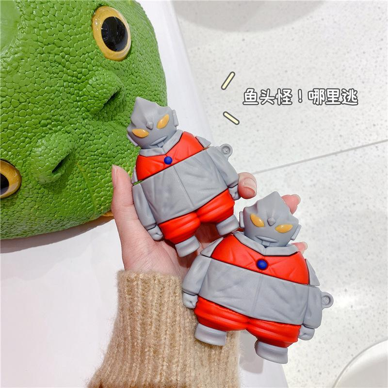 3D Earphone Cases For AirPods 1 2 Case Cute Hoodie Ultraman For Apple Airpods pro Protect Cover For Earpods Earbuds Case