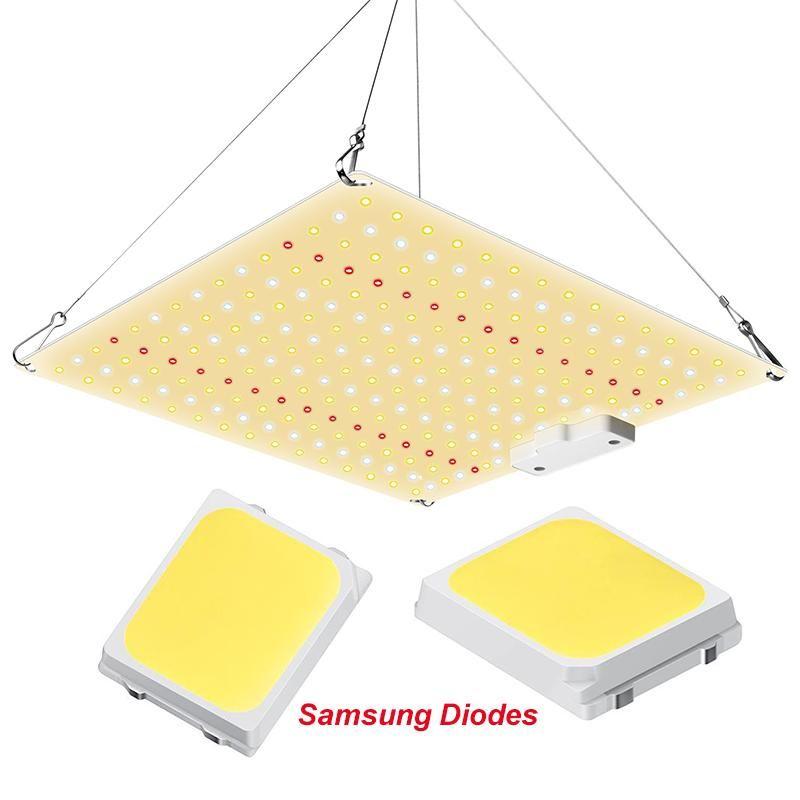 LED GRAGURE SAMSUNG DIODES SAMSUNGS 225PCS Puce Plein SPECTRUM 600W 3000K 5000K 660NM avec IR ou UV