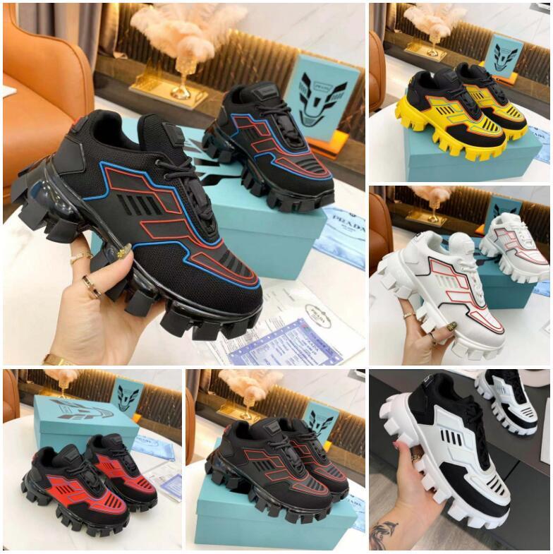 2021 Arrivée Mens Cloudbust Chaussures Thunder Knit Sneakers de luxe Design de luxe Sneaker Sneaker Light Caoutchouc Semelle 3D Entraîneurs Femmes Gros avec boîte