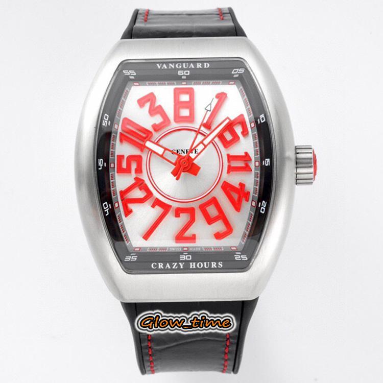 2021 ABF Crazy Hour Vanguard V 45 CH BR (RG) CZ02 Automatisches mechanisches 3D-Art-Deko-arabisches Zifferblatt Herren-Watch 316L-Stahlgehäuse Designer-Uhren