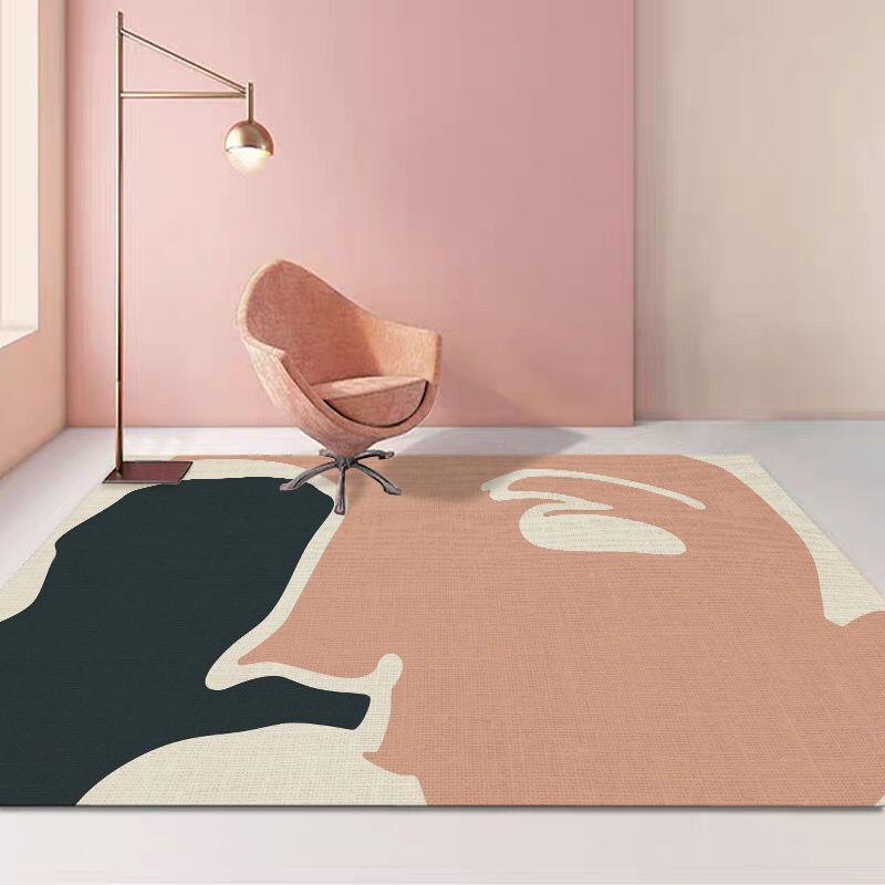 Teppiche Morandi Nordic Wohnzimmer Couchtisch-Tisch-Empfang Teppich Einfache Stil Schlafzimmer Nachts-Sofa-Fußmatte voll