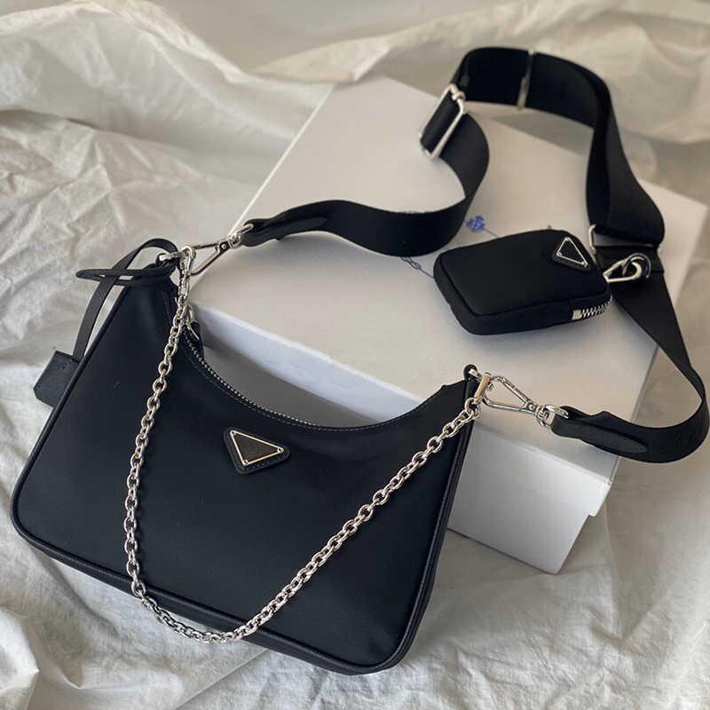 مصمم أكياس الإبطية حقيبة crossbody حقيبة يد الكتف المتشرد الفضة سلسلة الماس جودة عالية ألوان مختلفة مختلفة أنماط الأزياء العلامة التجارية مع المربع الأصلي