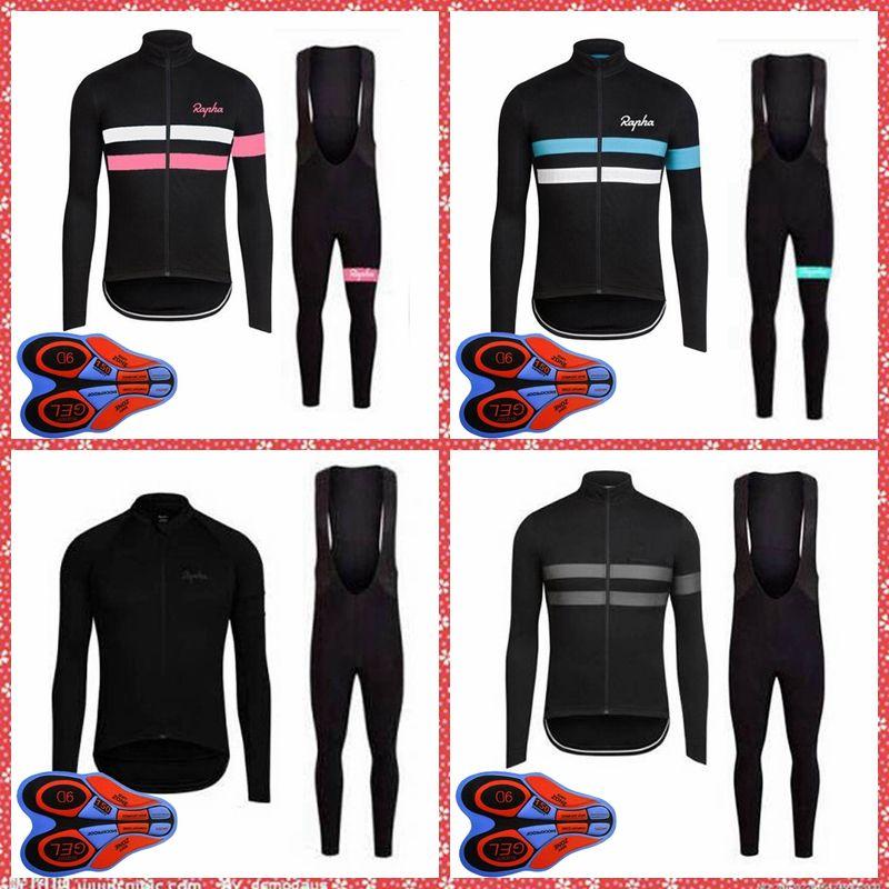 Pro Team Rapha Hombres Manga larga Ciclismo Jersey transpirable Ropa de bicicleta Quick-Dry Ropa Ciclismo Mountain Bike Wear S21031601