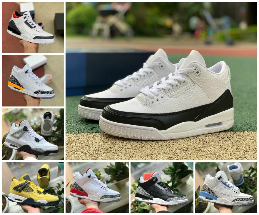أعلى جودة unc أسود أبيض الاسمنت jumpman 3 3 ثانية أحذية رجالي المرأة كرة السلة شظية رحلة نيكس النار الأحمر الحيوي بيج أحذية رجالي الرياضة