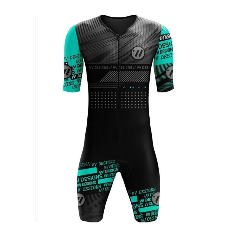 레이싱 세트 VVSPorts 디자인 트라이 애슬론 사이클링 저지 스킨 슈트 남성 사이클 착용 Trisuit 짧은 소매 Go Pro 자전거 의류 Jumpsuit Ciclismo