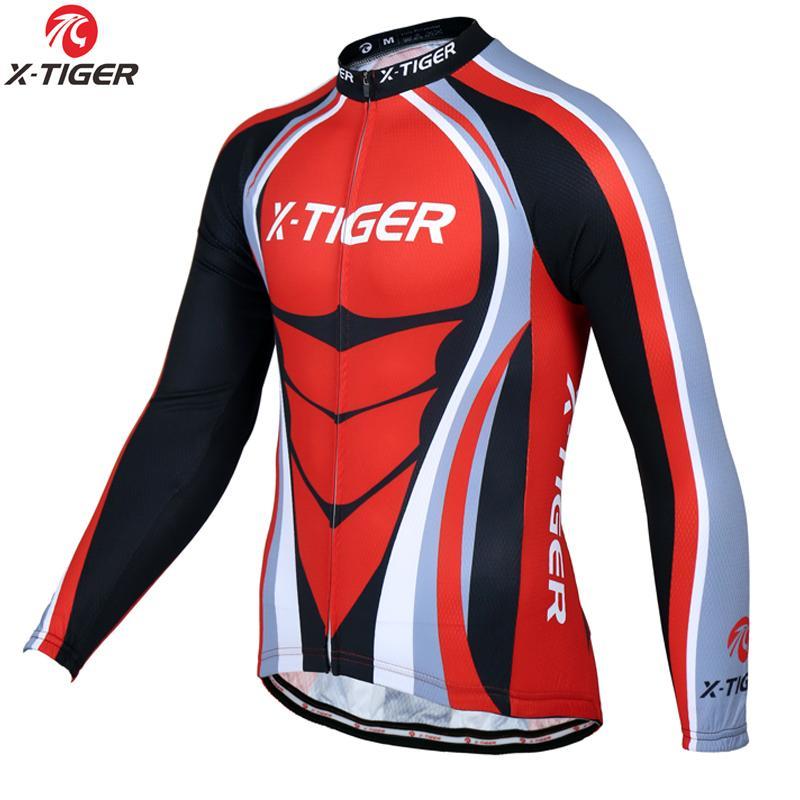X-Tiger Spring Racing Bike Одежда Велоспорт Одежда с длинным рукавом Maillot ROPA Ciclismo Велоспорт Джетки для велосипеда Гора Велосипедная одежда C0308