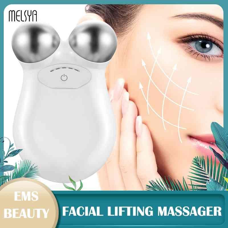 الوجه رفع آلة الجلد تشديد التنغيم مجموعة microlocurrent مدلك الوجه الجمال antialing إزالة التجاعيد الوجه جهاز التدليك Q0607