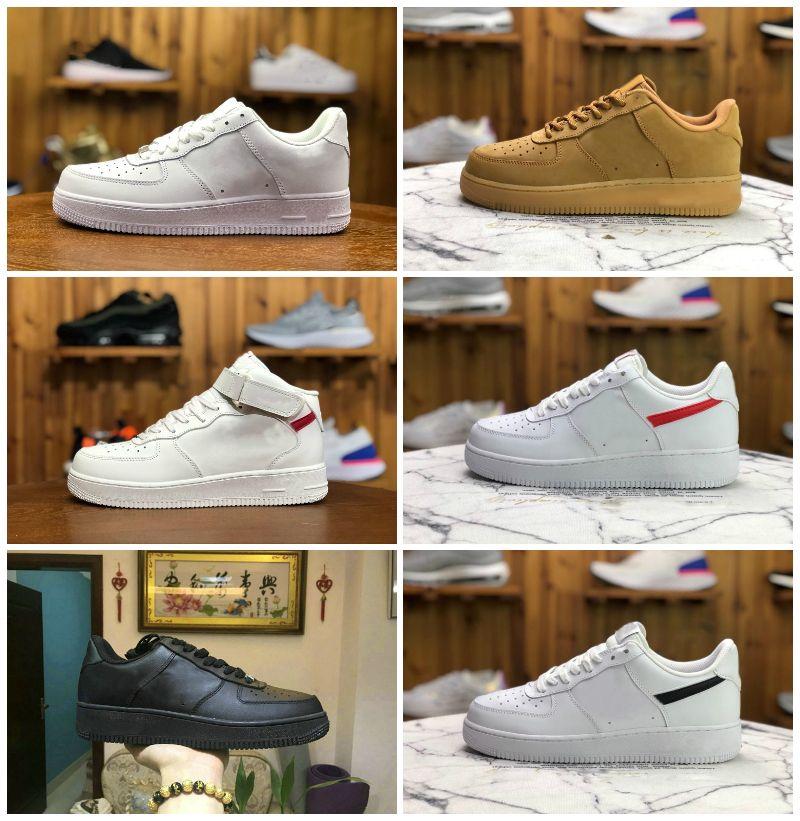 도매 고전적인 힘 망 낮은 러닝 신발 저렴한 하나의 유니섹스 1 니트 유로 공기 높은 여성 모든 흰색 검은 빨간색 스케이트 보드 스케이트 야외 트레이너 신발