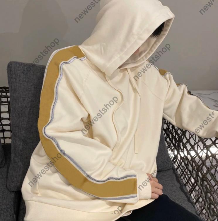 21SSS Europe Designer Hoodies Stripe Stripe Sweatshirt Para Mujeres Reflective Letra Imprimir Hoodyed Moda Jumpers Diseñadores Sudadera Hoody