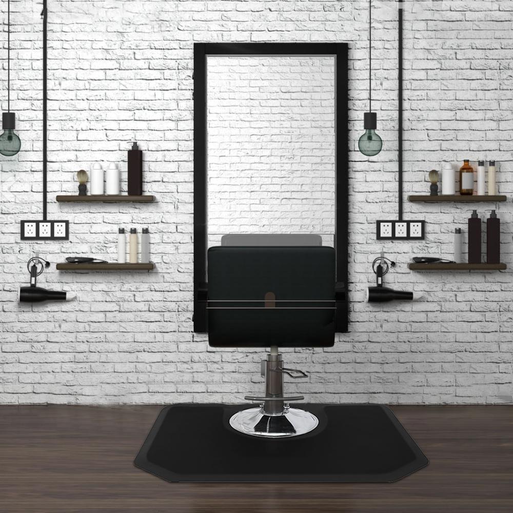 Waco салон против усталости напольный стул коврик, парикмахерская мебель, мягкий стоящий комфорт Floormats водонепроницаемый шестиугольник, 4FTX5FTX1 / 2in, черный