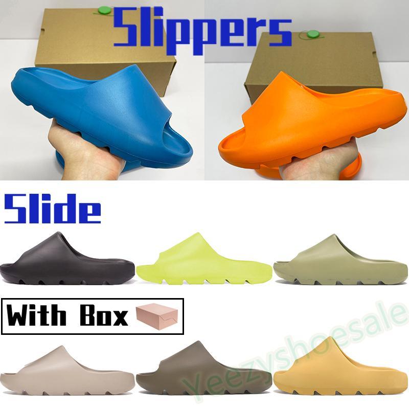Hausschuhe enflame orange enfora männer frauen schuhe sandalen erde braun harz reine ruß wüste sand glow green mens strand slide sneakers mit box