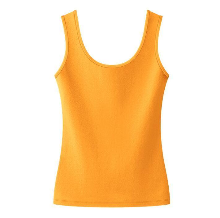 2021 Gelbe Womens Home Outdoor ärmelloses T-shirt Sexy Frauen S Kleidung Reine Farbe T-shirts 21ss Kleidung Tshirts 20ss