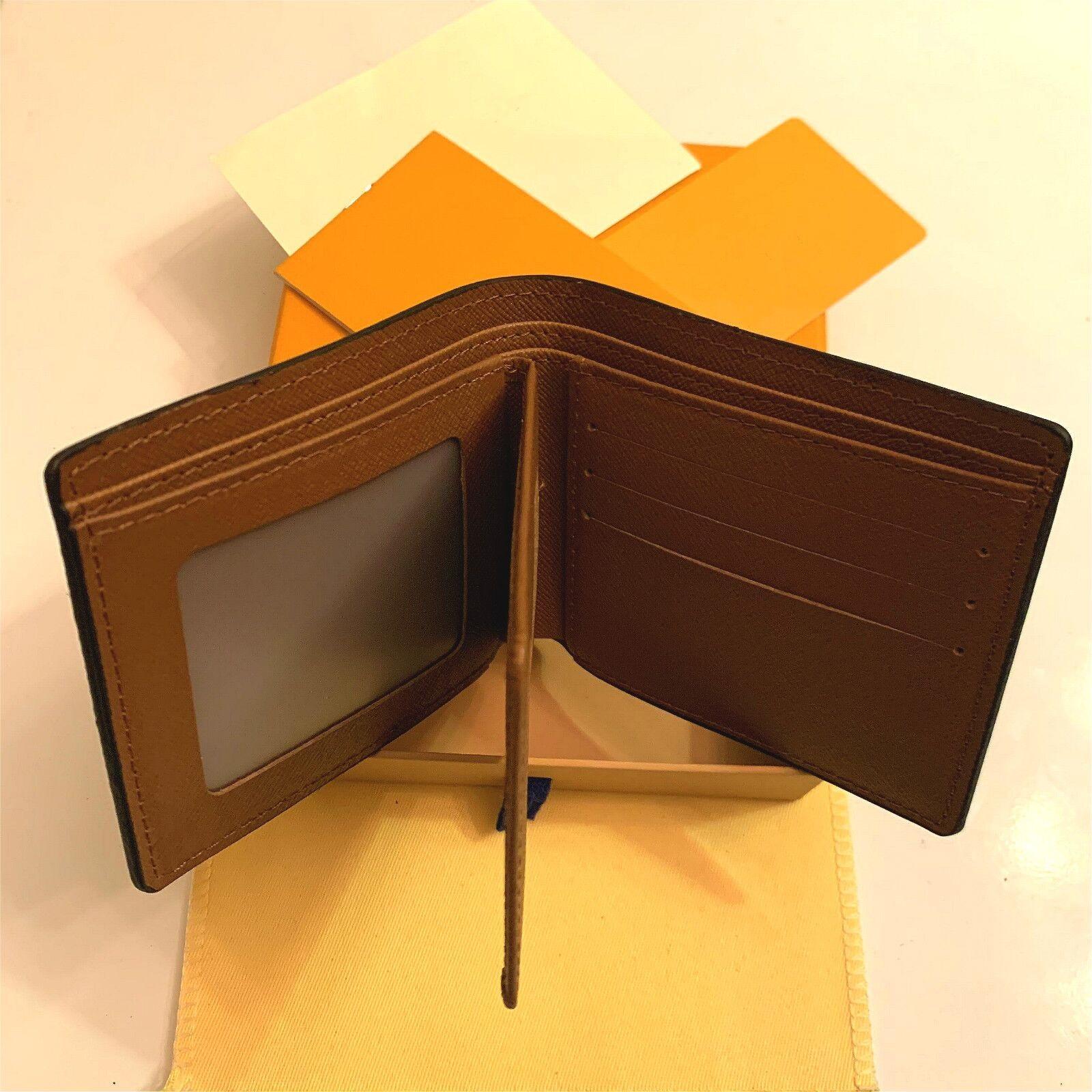 2021 Neue Hohe Qualität L Billfold Brieftasche Paris Plaid Style Designer Herren Geldbörse Frauen Geldbörse High-End S Luxus Brieftasche Handtasche mit Kasten