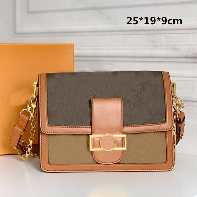 Messenger Bag Daphne Women Handbag Purse Classic Fashion Chain Crossbody Shoulder Bag Genuine Leather Lady Graceful Tote Bag Clutch 3 Size