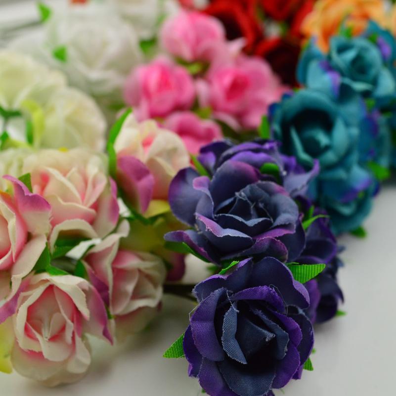 18 pcs Rosas de seda sapatos de casamento Headdress DIY grinalda caixa de presente casa decoração de parede barato colagem de flores artificiais garlan jllftg