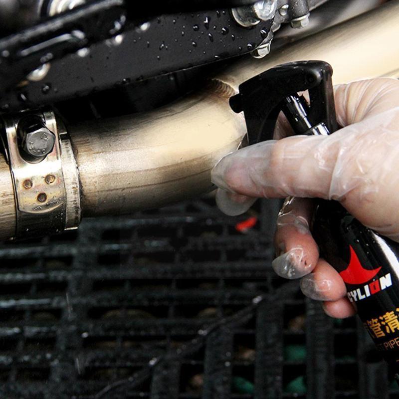 Sistema de escape de la motocicleta 150 ml Limpiador de tuberías Spray Herramienta de mantenimiento de la limpieza Belleza G5G3