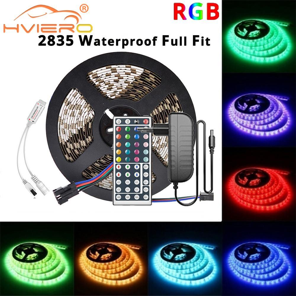 Wifi RGB LED الشريط الشريط SMD 2835 5/10 متر dc 12 فولت للماء مصباح ديود الشريط مرنة للمنزل عيد الميلاد أضواء الديكور