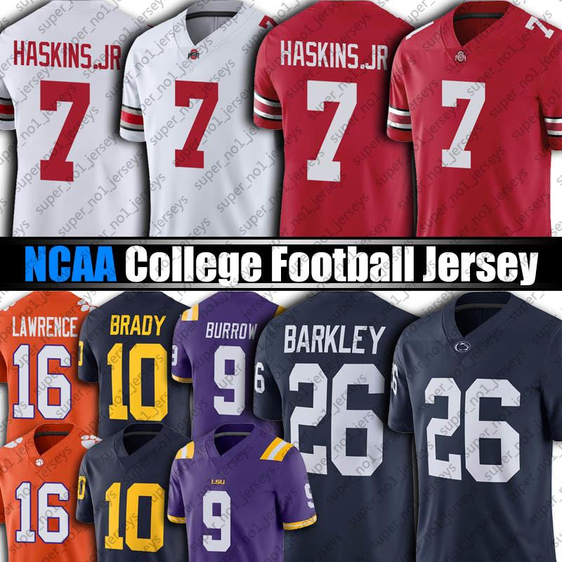 NCAA OHIO الدولة BUCKEYES 7 Dwayne Haskins JR 97 نيك بوسا جيرسي حكول نيتاني 26 سكوان باركلي جيمات تا تاو توم برادي تريفور لورانس