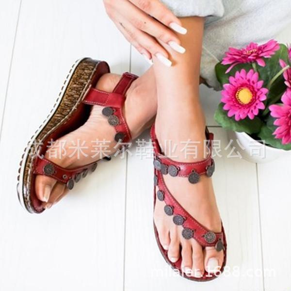 Сандалии женщины классические летние мягкие нижние клинья обувь для женщин каблуки пляж chaussures femme случайный