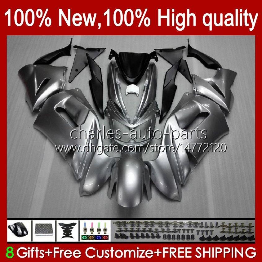 Kit carenatura per Kawasaki Ninja 650R ER 6F ER 6 F ER6F-650R 29HC.8 Lucido Silvey New ER6 F 650 R ER6F 06 07 08 ER-6F 2006 2007 2008 Culto corpo