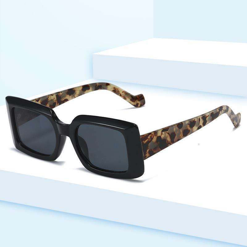 Nuevas gafas de sol cuadradas de tendencia recta con trimas metálicas de moda de moda grande para hombres y mujeres