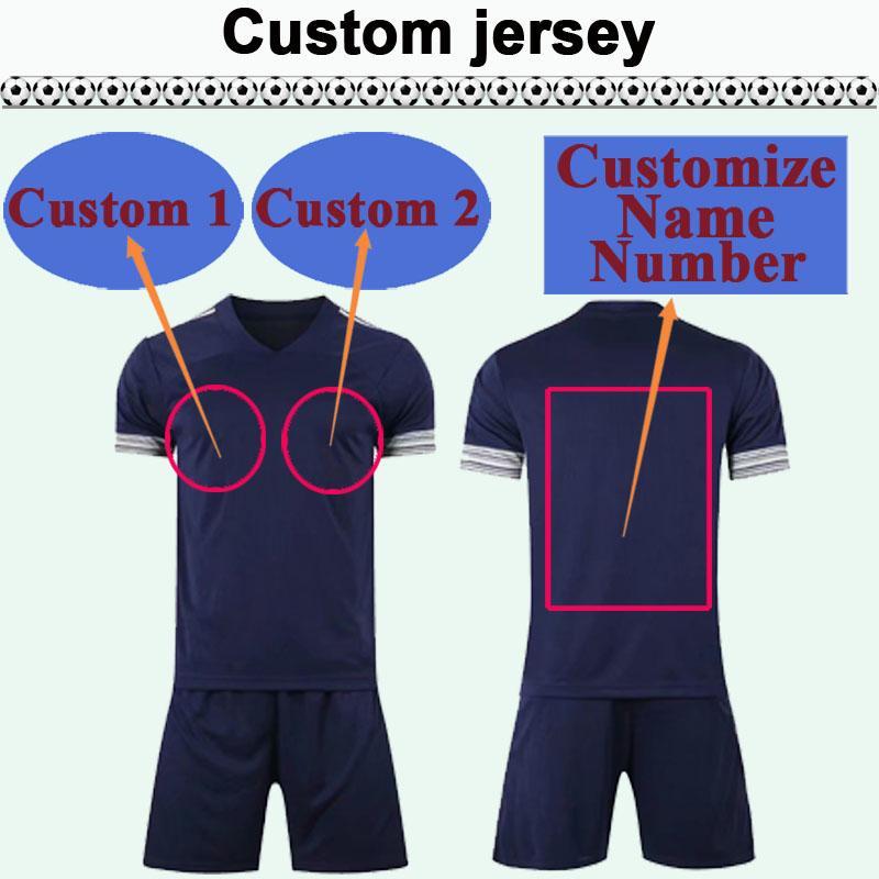 Custom National Team Club Hommes Kit de Jersey Soccer Vous pouvez personnaliser le nom et le numéro de football design tels que 21 Qinghai