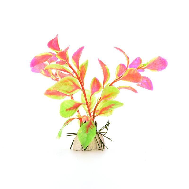 Natürliche Fischbehälter Gras Blume Ornament Dekor Landschaft Kunststoff Aquarium Dekor Multicolor Künstliche Pflanzen