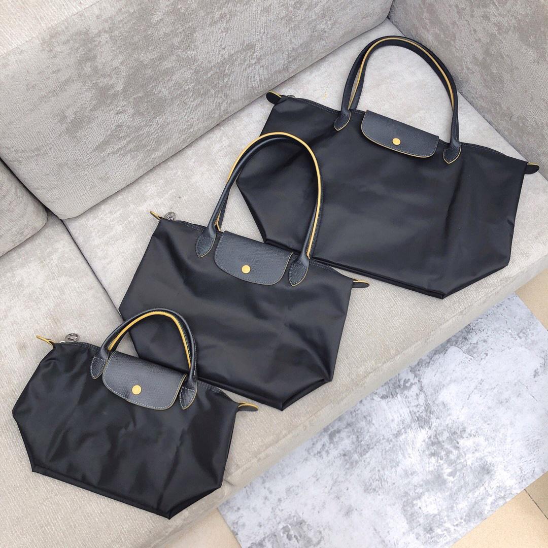 Женские сумки кошельки для покупок Большой Tote Beach Bags Pochette нейлоновая сумочка Oxford настоящая кожа высочайшее качество складной ручной сумки